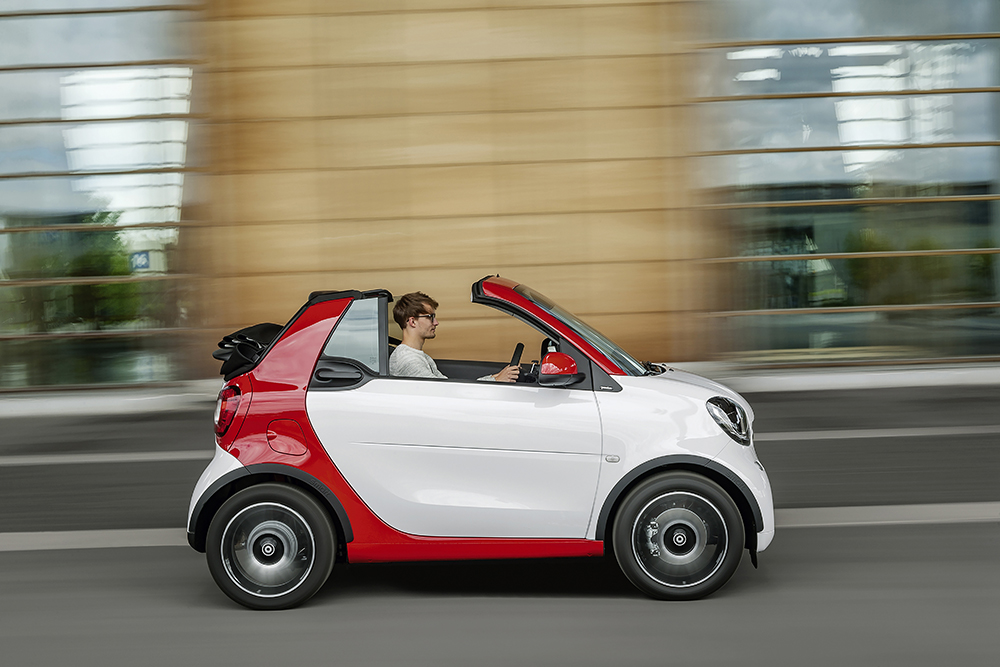 Mercedes Benz introduces their new smart fortwo cabrio at the 2016 North American International Auto Show in Detroit.