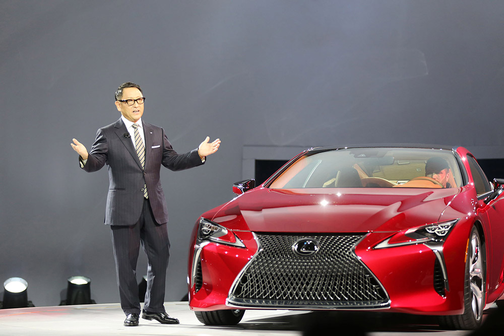 Lexus introduces its new LC 500 model at the North American International Auto Show in Detroit Monday.