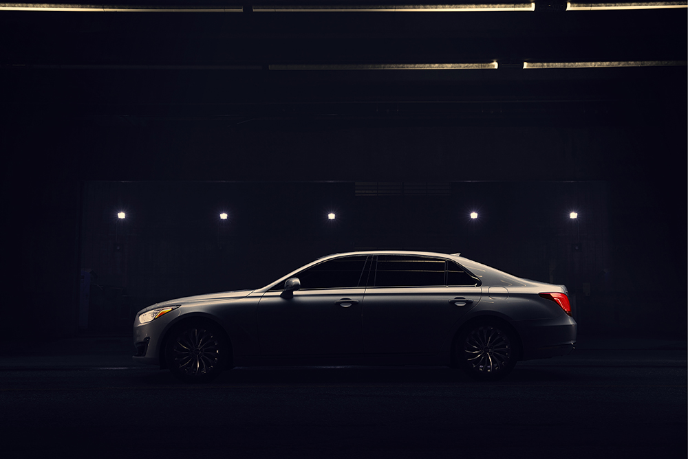 The Genesis G90 is introduced at the 2016 North American International Auto Show in Detroit.