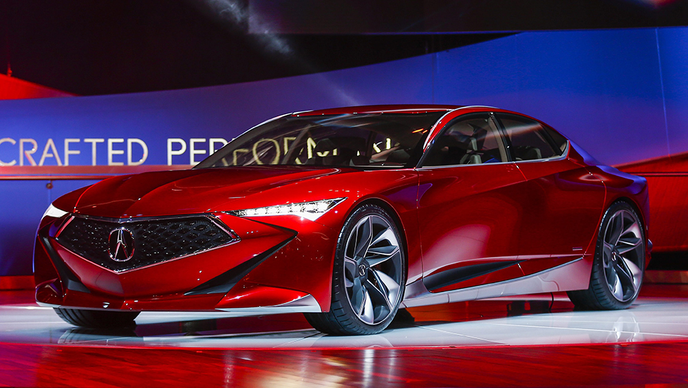 Acura introiduces their new Precision Concept at the North American International Auto Show in Detroit Tuesday.