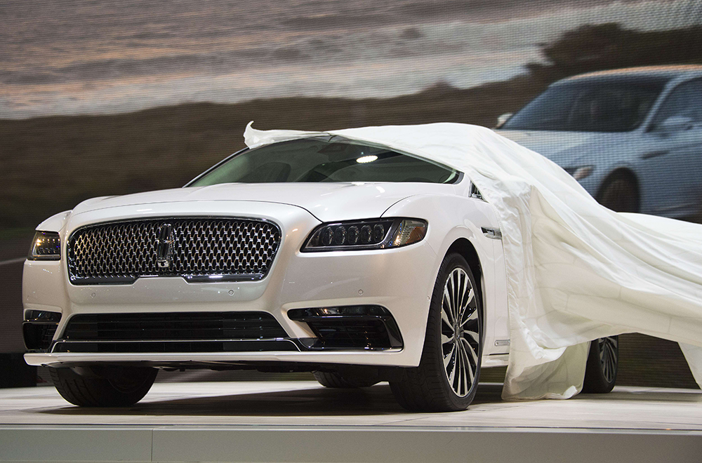 Lincoln reveals the new Continental at the North American International Auto Show in Detroit Tuesday.