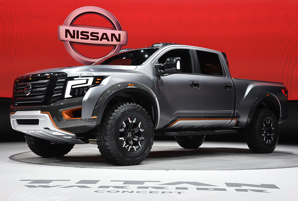 Nissan reveals their new Titan Warrior concept truck at the North American International Auto Show in Detroit Tuesday morning.