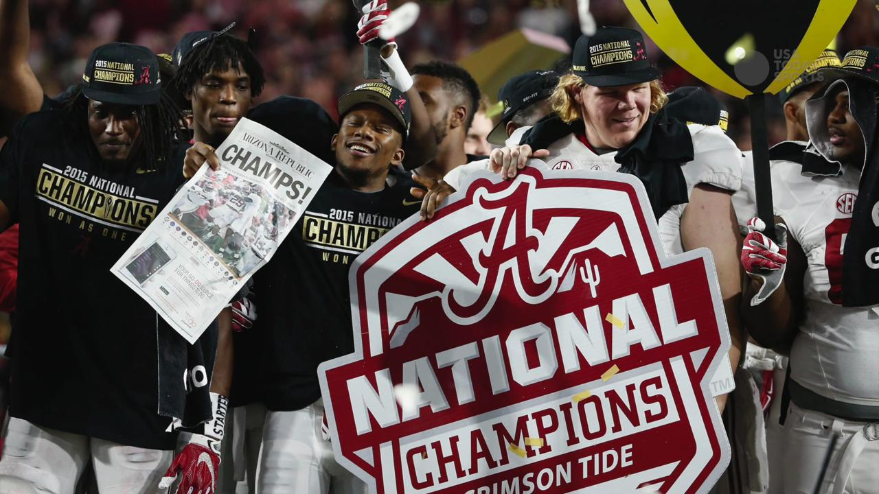 Ratings for ESPN's Alabama vs. Clemson game drop 15% from last year's CFP title game.