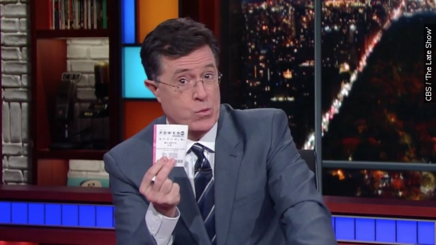 Stephen Colbert has some really bad advice for winning the Powerball