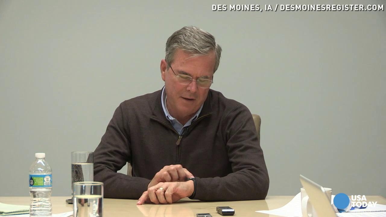 Hello? Jeb Bush gets call on Apple Watch, gets confused