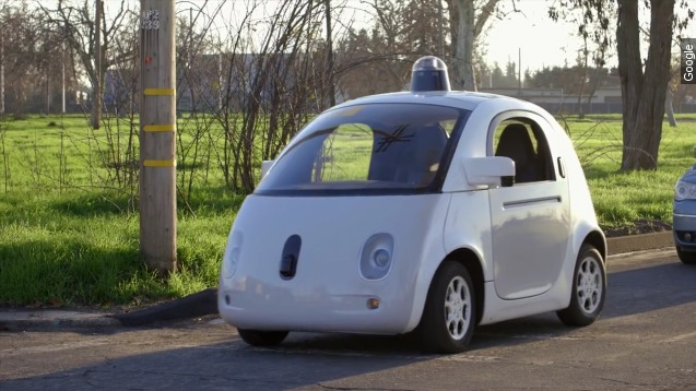 Google self-driving cars in Mountain View, Calif., in 2014.