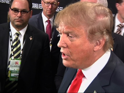 Trump, Carson in Spin Room After Debate