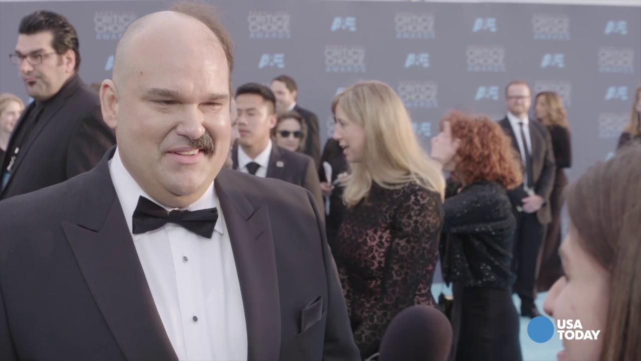 """The 'Last Man on Earth' stars """"just woke up like this one day,"""" Rodriguez joked on the Critics' Choice Awards carpet."""