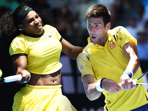 Serena Williams and Novak Djokovic defeated their opponents in straight sets to advance to the next round of the Australian Open.