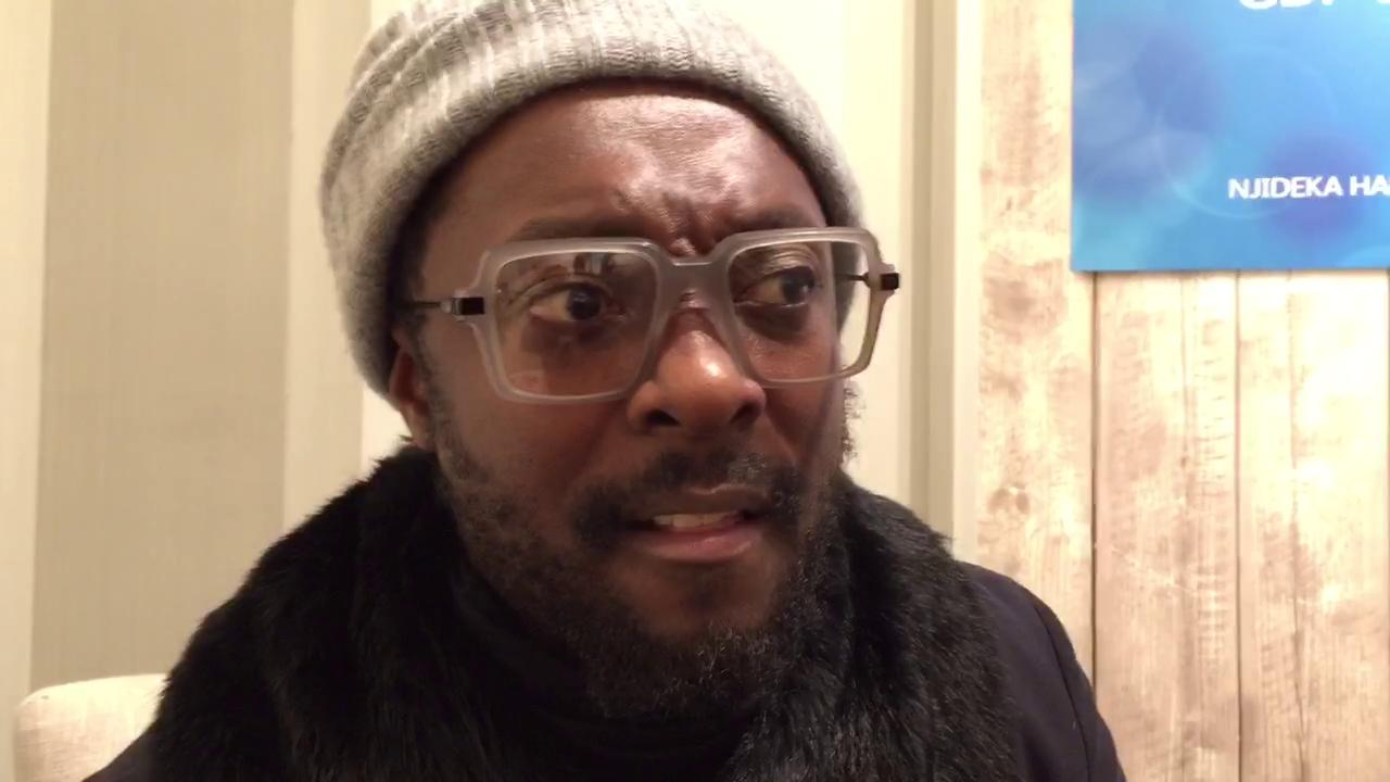 Will.i.am explains Davos to his mother