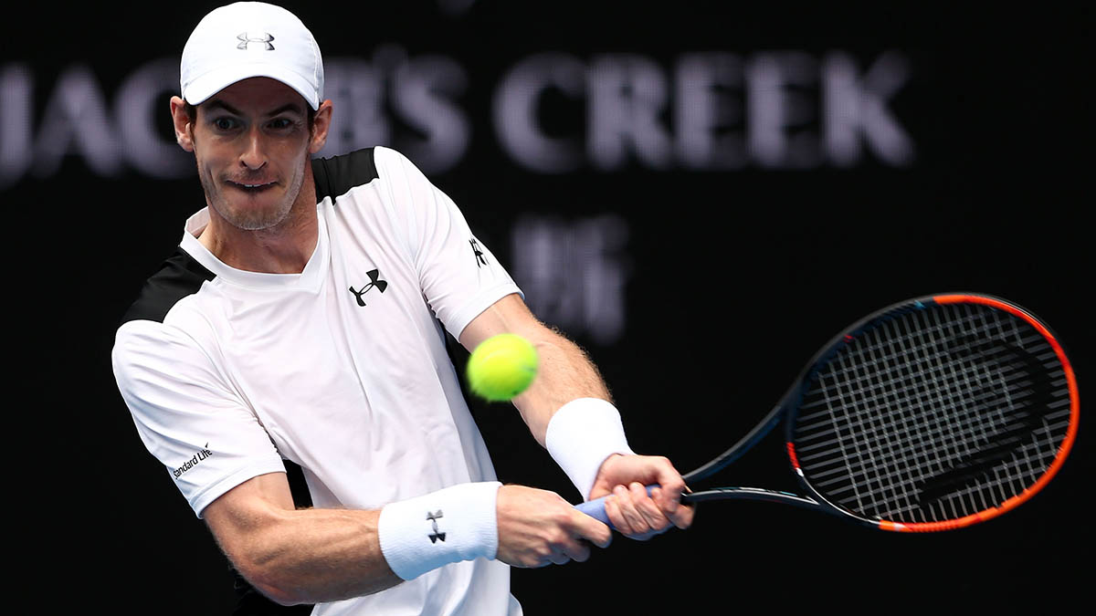 Four-time finalist Andy Murray cruised into the third round of the Australian Open.