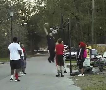 Policeman responds to noise complaint with sweet dunk