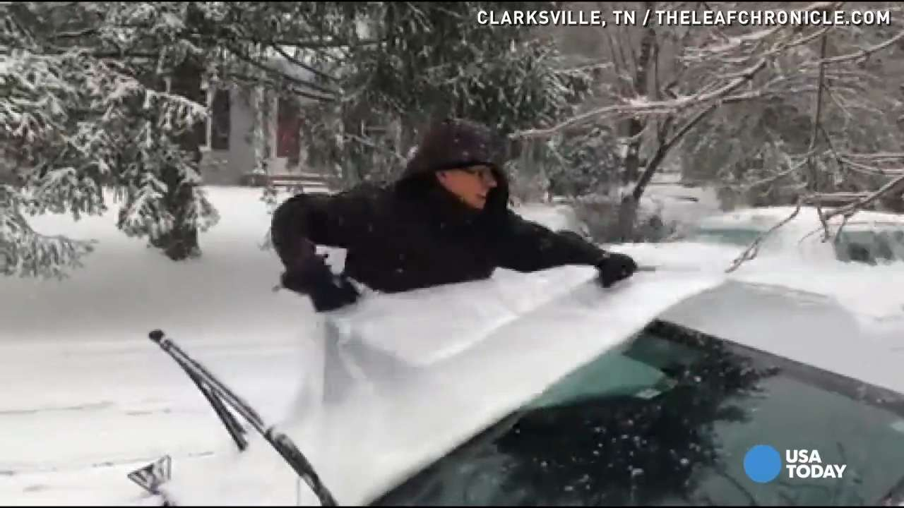 You won't believe this easy trick to keep ice from forming on your car's windshield during a snowstorm. All it takes is an old shower curtain.