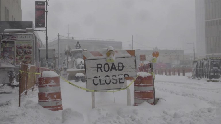 New York bans travel due to monster storm