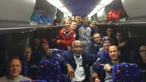 The Duquesne men's basketball team was stranded on a bus during the recent winter storm that rocked the East Coast.