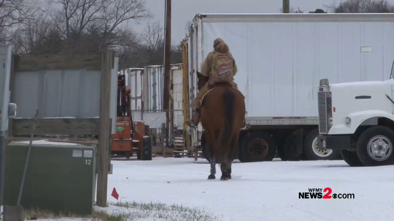 Saddle up! N.C. woman ditches truck, rides horse to work