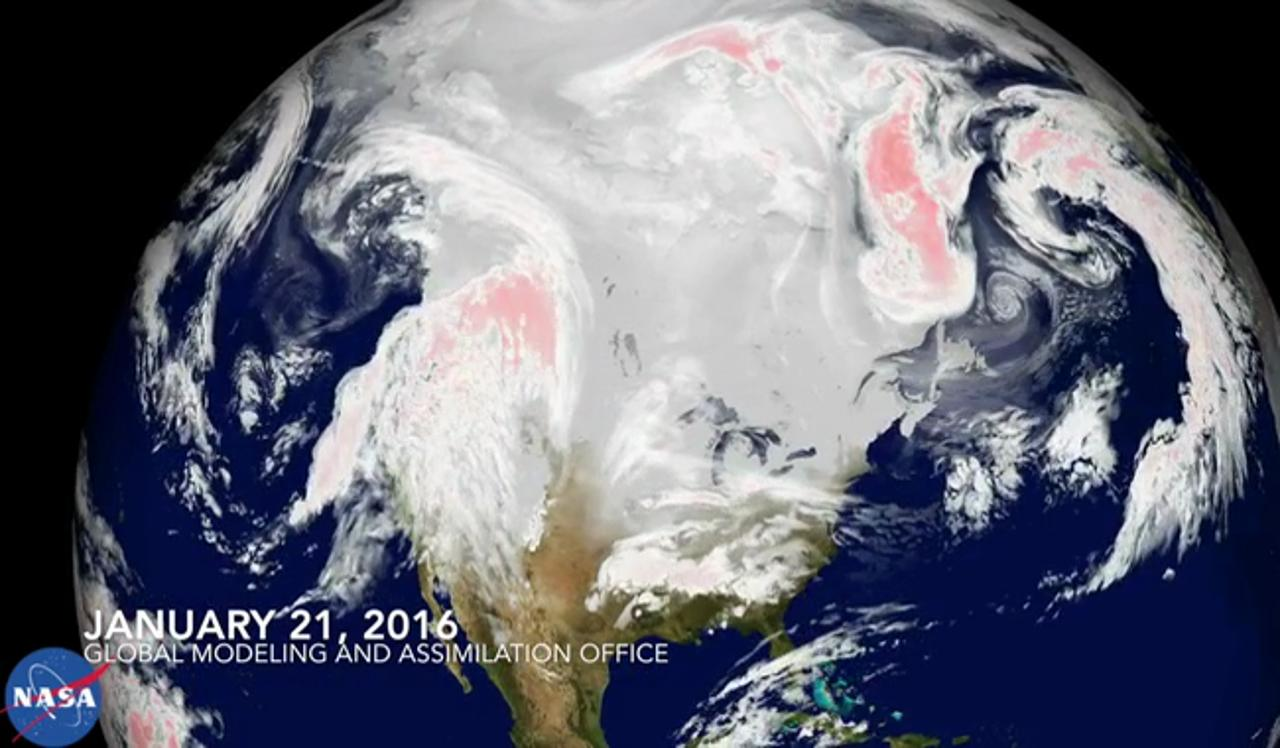 NASA's satellite view of historic winter storm Jonas