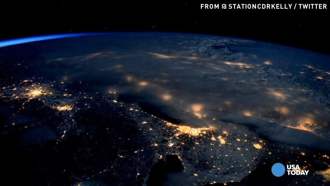 What winter storm Jonas looked like from space