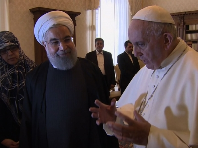 Raw: Iran's President, Pope Meet at the Vatican