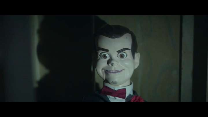 "The villainous dummy Slappy (voiced by Jack Black) stars in an exclusive alternate opening to the movie ""Goosebumps."""
