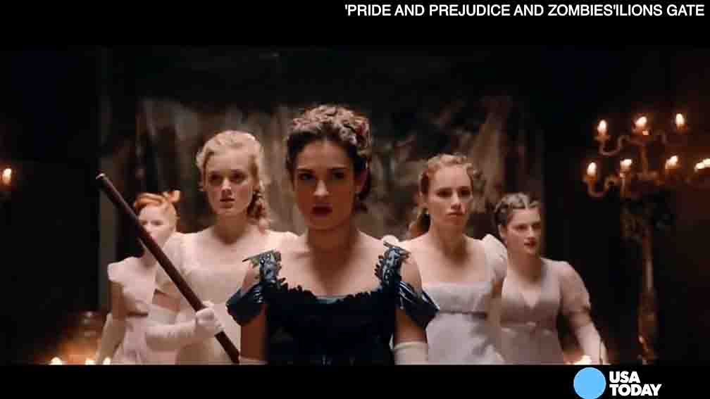 "Lily James, star of ""Pride and Prejudice and Zombies"" tells USA TODAY's Bryan Alexander about a memorable zombie near kill."