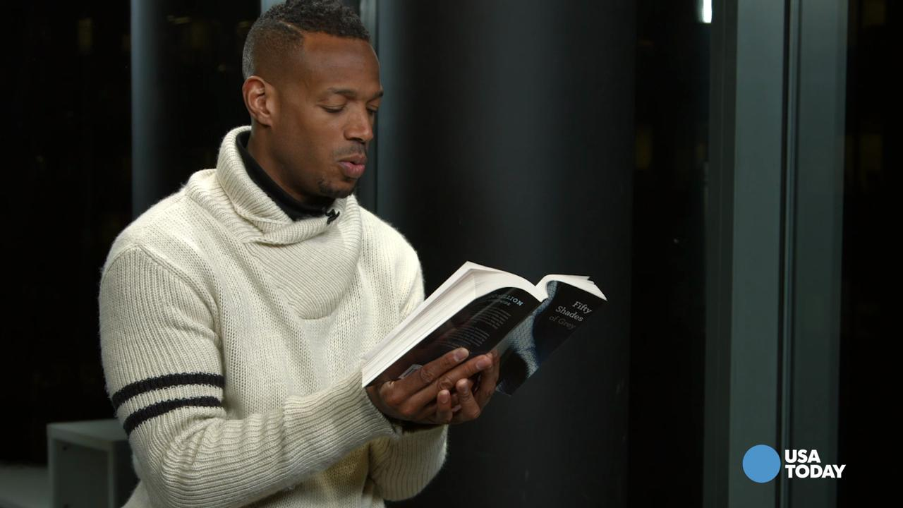 Marlon Wayans wrote, produced and acted in the parody film 'Fifty Shades of Black.' Watch him read some of the steamiest and silly passages from 'Fifty Shades of Grey' for USA TODAY.