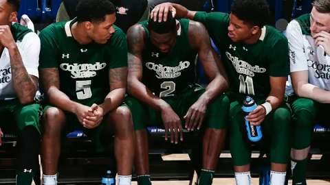 Colorado State junior forward Emmanuel Omogbo is back at practice after a tragic fire caused the death of relatives.