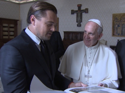 Leo DiCaprio Meets the Pope