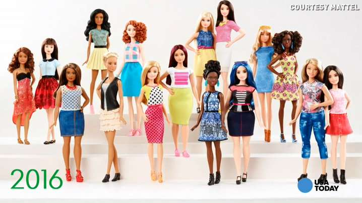 See nearly 60 years of Barbie's transformation in under 1 minute