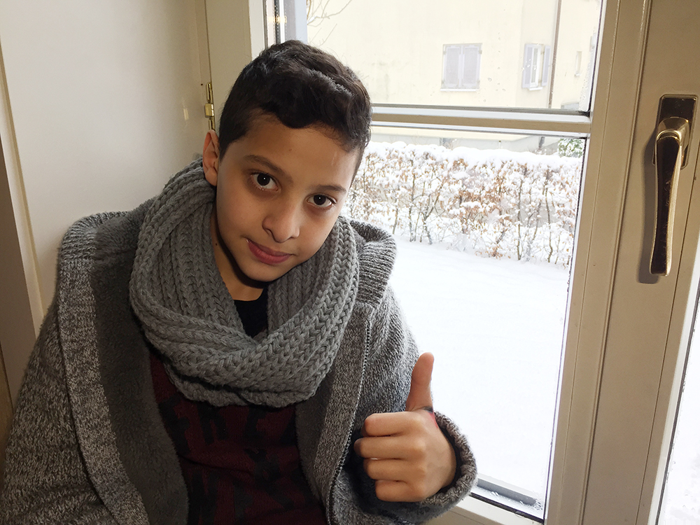 USA TODAY's Kim Hjelmgaard talks with Mohamad Helani, 12 and his brother Essam, 8, Syrian refugees living in Austria about their experiences and their new life.
