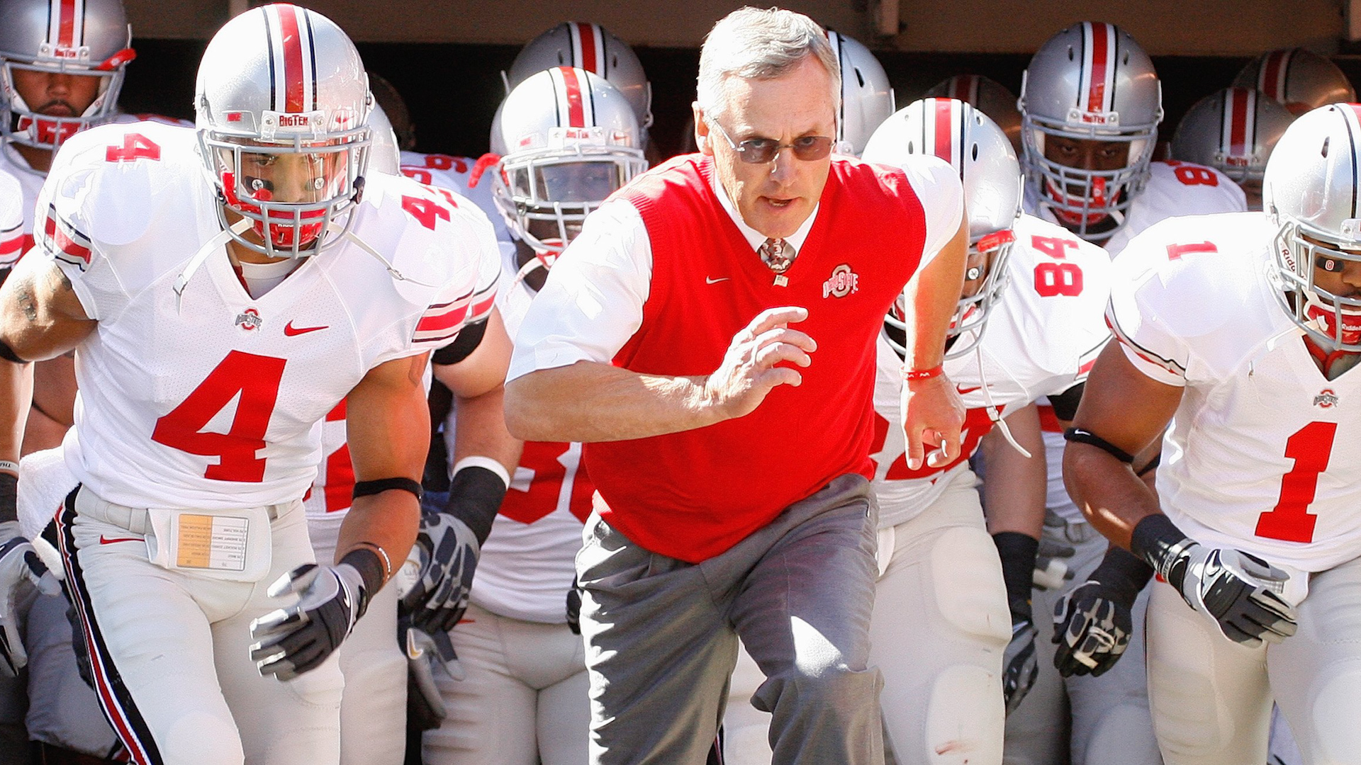 Former Ohio State University head coach Jim Tressel scouts the five players playing in Super Bowl 50 that he recruited during his time at OSU.