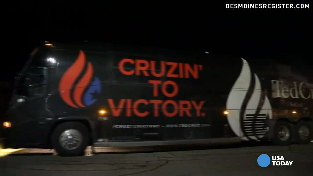 Ride along with candidates on Iowa campaign trail