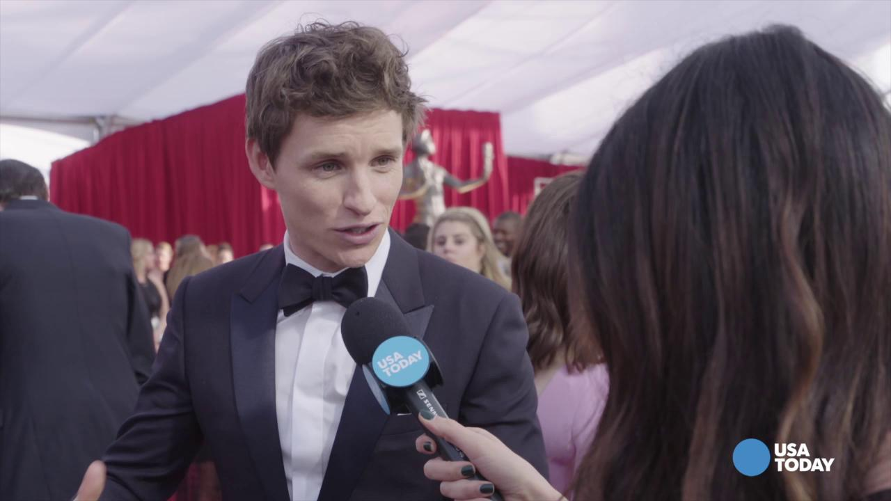 Here's Eddie Redmayne, fresh off of 'Fantastic Beasts'