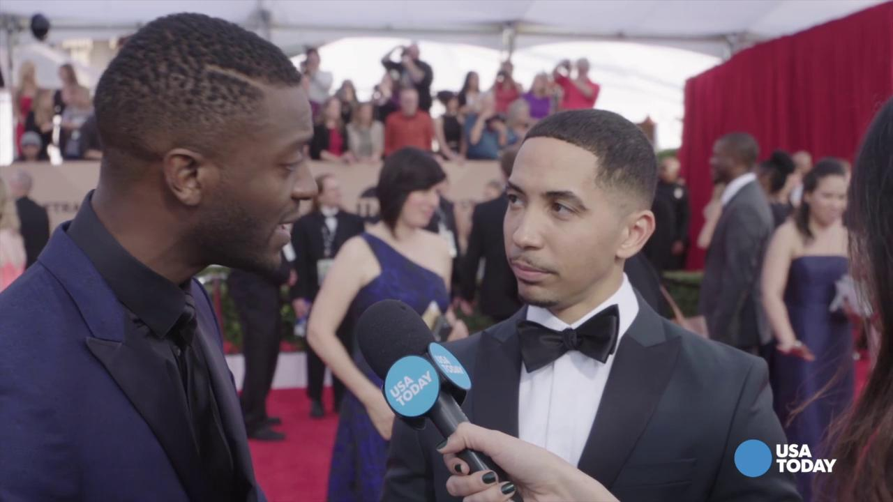 """Straight Outta Compton"" stars Neil Brown Jr. and Aldis Hodge say they are beginning to notice postive changes in the entertainment industry's attitude toward diversity."