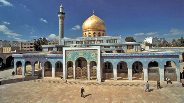 The blasts occurred near a historic shrine south of Syria's capital.  Video provided by Newsy
