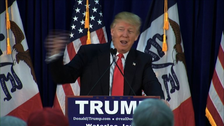 Trump encourages Iowans to head to caucuses