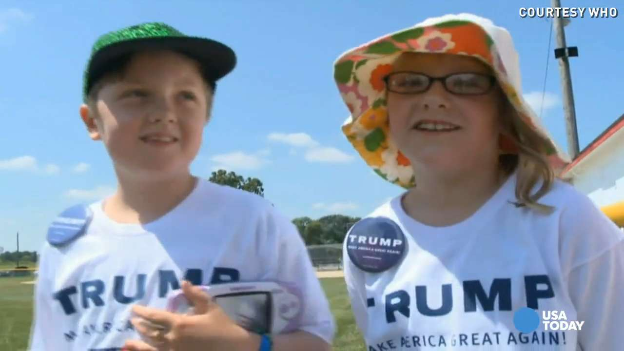 20 lucky kids rode in Trump's personal helicopter