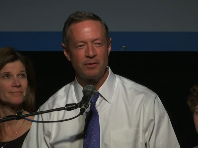 Former Maryland Governor Martin O'Malley dropped out of the Democratic Presidential Race on Monday night. Early results from the Iowa caucuses showed O'Malley far behind both Hillary Clinton and Senator Bernie Sanders. (Feb. 1)