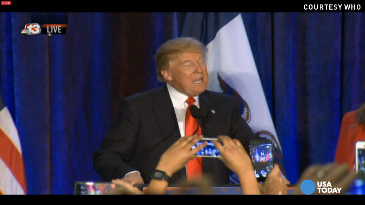"""Donald Trump says he is """"just honored"""" to get second place in the Iowa caucuses and says he is optimistic about the rest of the presidential race."""