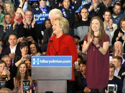 Hillary Clinton and Bernie Sanders were locked in an improbably tight duel in Iowa's leadoff presidential caucuses Monday as the two rivals offered Americans a stark choice between political pragmatism and revolution. (Feb. 1)