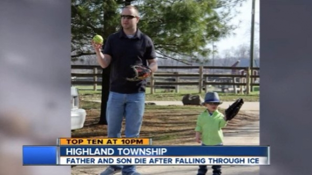 Michigan father and 4-year-old son die after falling through thin ice