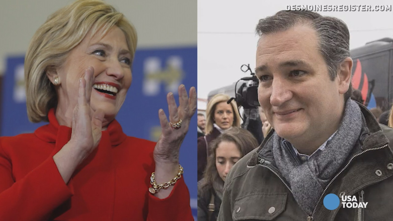 Clinton, Cruz win Iowa