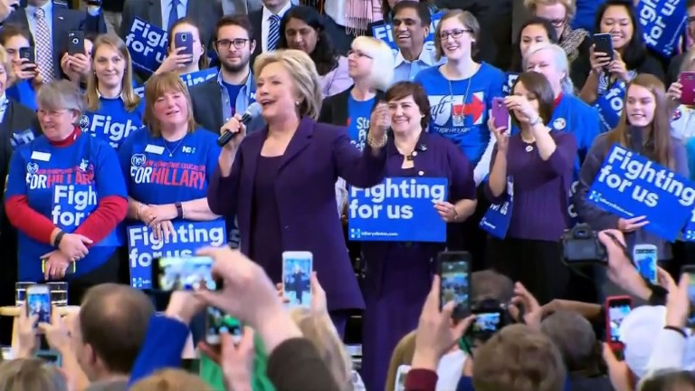 Clinton campaign in New Hampshire after razor-thin Iowa victory