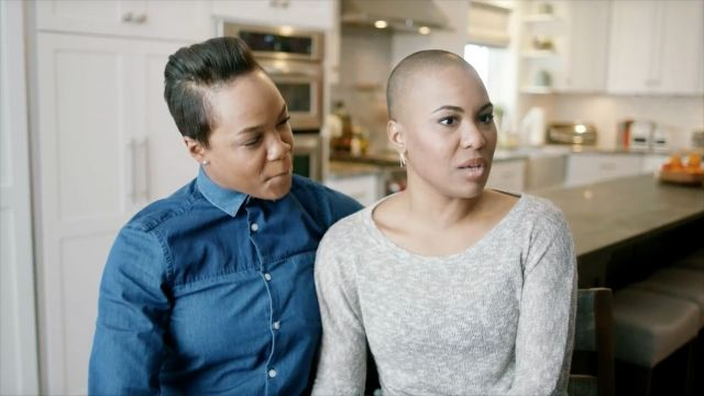 "Hallmark's ""One Card, Many Backstories"" campaign features a gay couple and a lesbian couple."