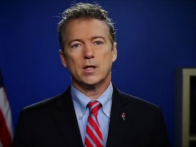 Sen. Rand Paul announces the end of his presidential campaign on Feb. 3, 2016, in Washington.