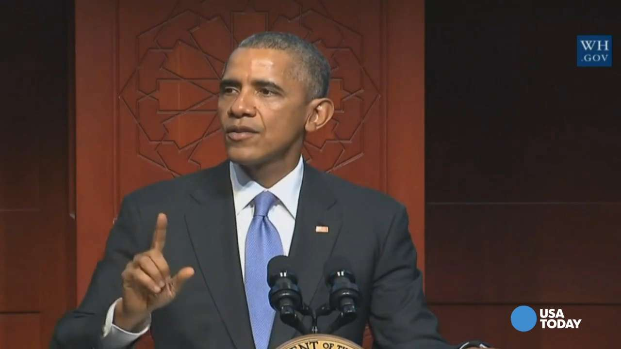 Obama calls for unity in first visit to U.S. mosque