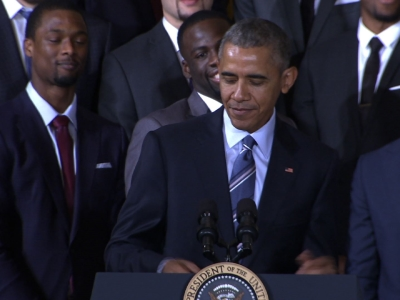 Obama Honors NBA Champs Golden State Warriors