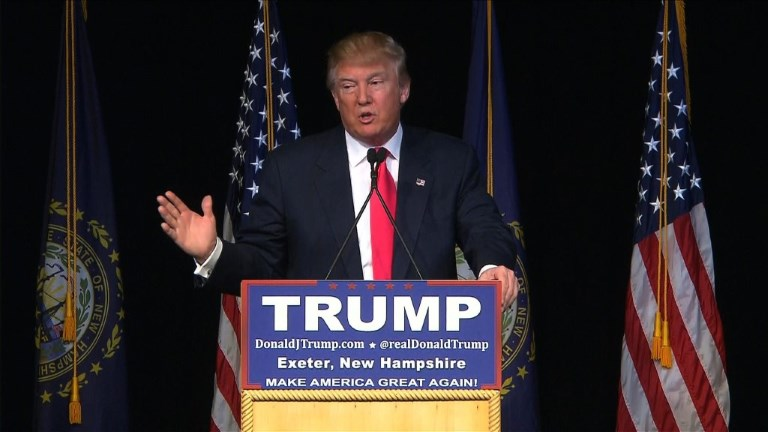 Trump campaigns in new Hampshire ahead of Feb. 9 primary
