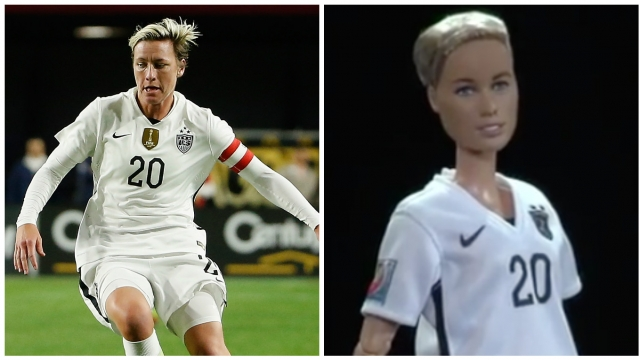 Mattel unveiled that its latest Barbie is modeled after Abby Wambach, the all-time leading scorer in soccer history. Video provided by Newsy