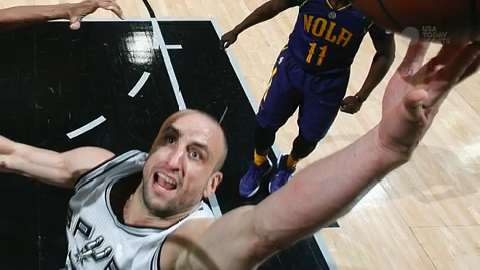 Spurs star guard Manu Ginobili is sidelined after surgery on his testicle.